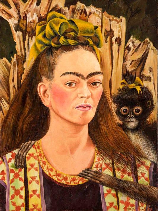 Pintura Frida Kahlo, Autorretrato con chango, 1945, Fundacin Robert Brady, A.C.