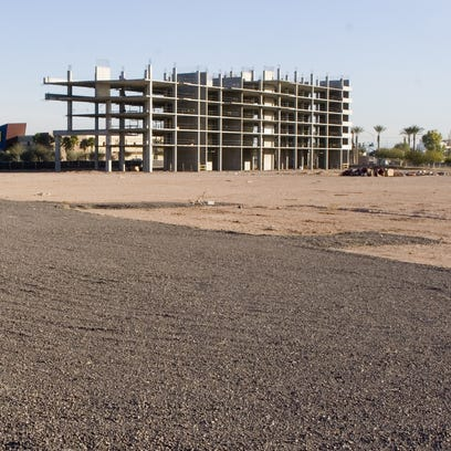 Elevation Chandler sits partially completed just south