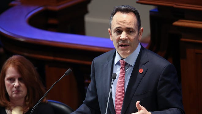 Gov. Matt Bevin delivered the State of the Commonwealth address at the State Capitol in Frankfort.