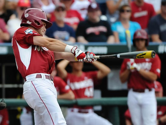 NCAA Baseball: College World Series-Arkansas vs Virginia