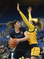 Nevada's Teige Zeller looks to shoot with UC Irvine's