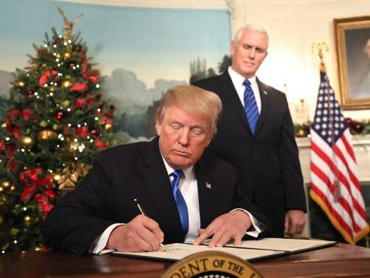 EPA USA TRUMP JERUSALEM POL GOVERNMENT USA DC