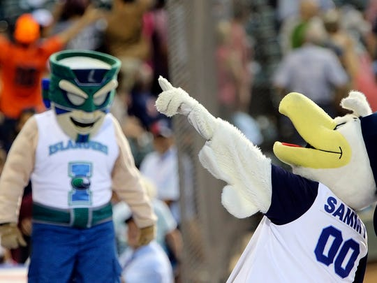 Hooks mascot Sammy the Seagull returns this season.