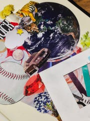 Recent collage work in process by Frank Juarez.