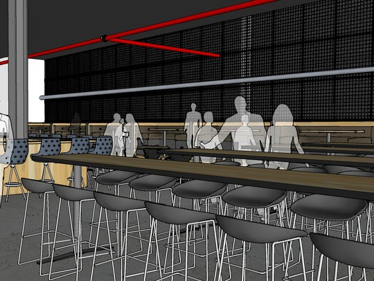 A rendering shows the bar at The Morrie in Birmingham.