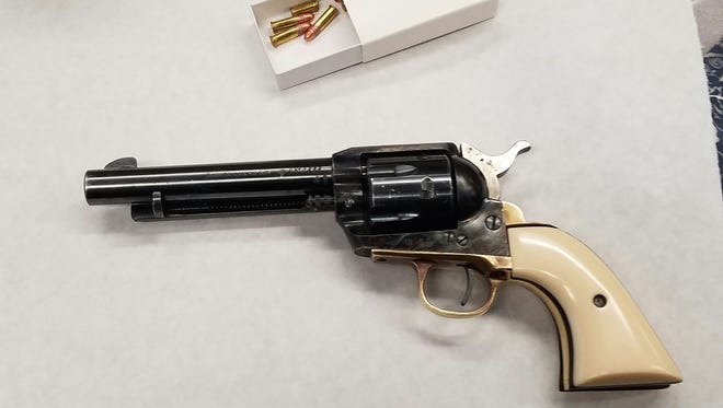 Oxnard police ask for public's help in identifying gun found in a box.