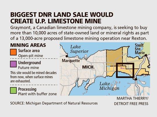 Biggest DNR land sale would create U.P. limestone mine.