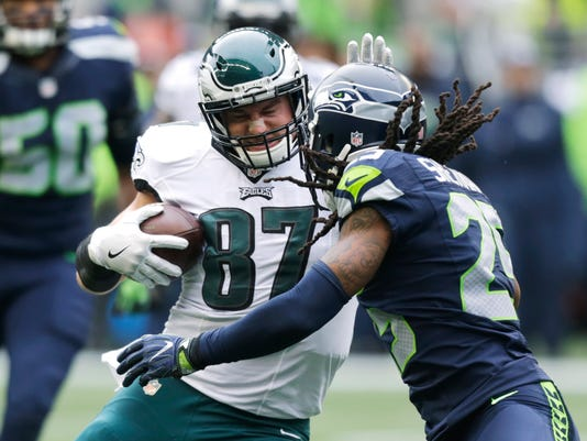 Richard Sherman, Brent Celek