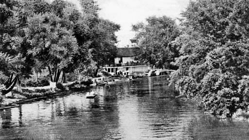 This boat house served as a center for recreation on the Codorus Creek a century ago