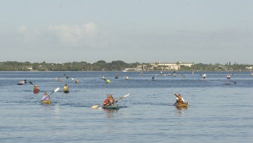 A community paddle across the Indian River Lagoon is set for 7:30 a.m.-noon Oct. 23 at the U.S. Sailing Center, 1955 N.E. Indian River Drive, Jensen Beach.