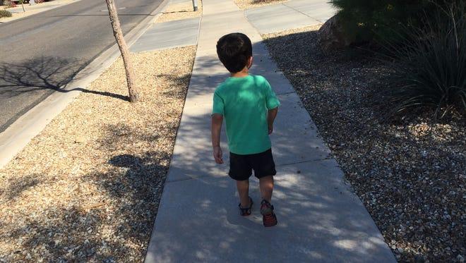 My son loves his walks