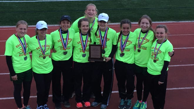 Oak Harbor's middle school team earned runner-up status at the state meet last month.