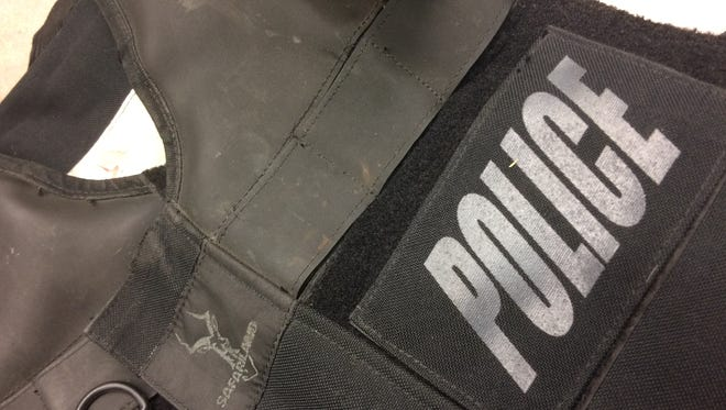Sheboygan's police chief has asked the city to spend $32,000 next year to replace aging bulletproof vests like this worn by the city's SWAT team members.