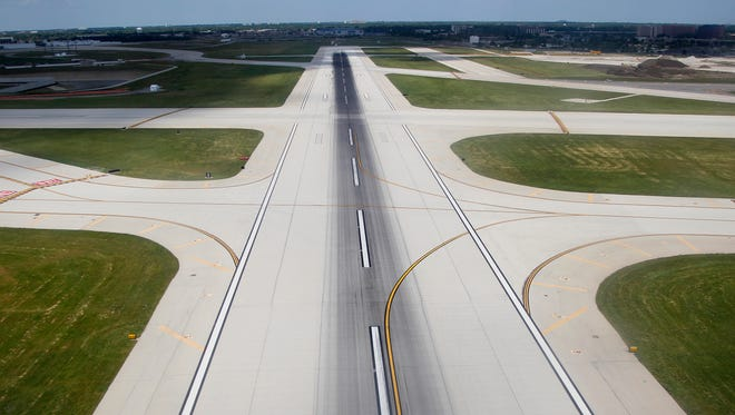 A runway at Chicago O'Hare International Airport.