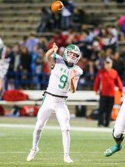 Wall's Mason Fuchs throws the ball against Jim Ned