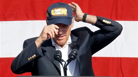 During a speech in the lobby the United Steelworkers headquarters,  Vice President joe Biden lamented a rising pay gap between CEOs and rank-and-file workers, and called for tax changes to support the middle class.