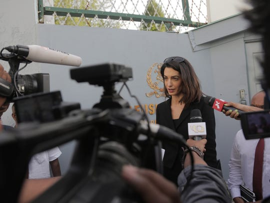 Amal Clooney at Maafushi Prison to meet with client,
