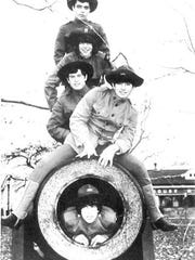 The original Doughboys circa 1967, from bottom, Richie Heyman, Mike Caruso, Willy Kirchofer, Myke Scavone, and Mike Farina.