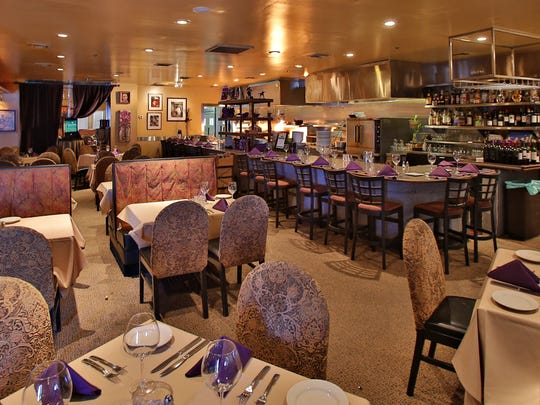 The dining room inside Razz's Restaurant and Catering.