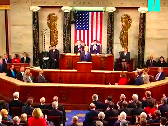President Donald Trump zeroed in on many of the nation's top political discussions, weaving in stories from various U.S. citizens seated in the gallery of the House Chamber, as he delivered his first State of the Union address Tuesday evening.