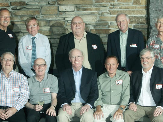 Pictured are Tom Altenburg, front row from left, Michael Probst, Fred Copps, John Koehl, Michael Sheehan; Jeff Bourn, back row from left, Michael Stroik, Ralph Lepak, Jim Cooper and Larry Scipior.