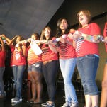 Campers participate in the Annual talent show