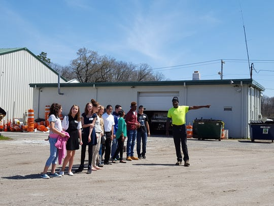 Buena Regional Middle School students get a tour of