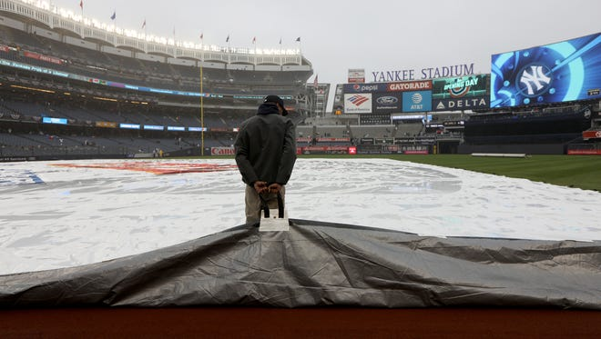 The Yankees and Red Sox could be postponed on Tuesday due to expected rain.