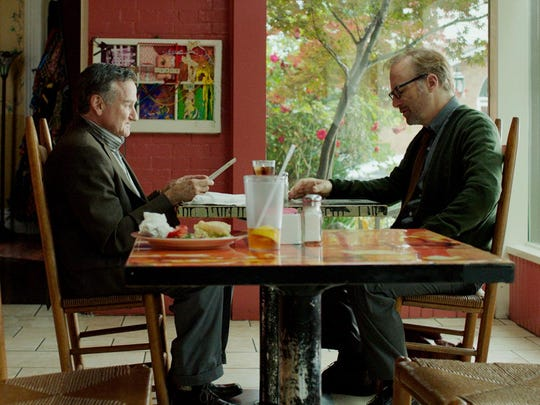 """Bob Odenkirk, right, with Robin Williams in """"Boulevard,"""""""