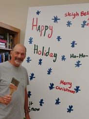 """Roger Deering enlarged """"Happy Holiday,"""" the winning"""