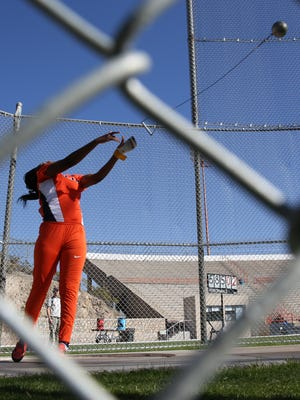 UTEP track athlete Fayon Gonzales