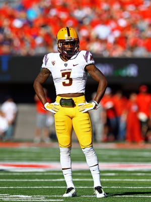 Nov 28, 2014: Arizona State Sun Devils defensive back Damarious Randall (3) against the Arizona Wildcats during the 88th annual territorial cup at Arizona Stadium.