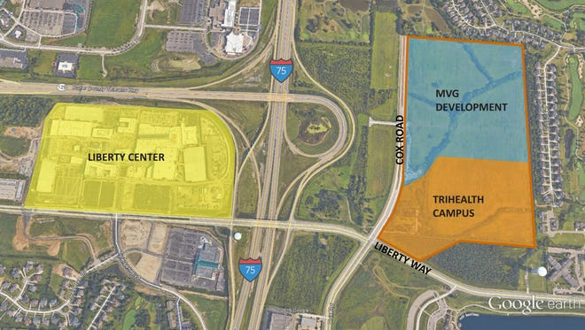 An overhead photograph showing where TriHealth's new ambulatory care center will go.