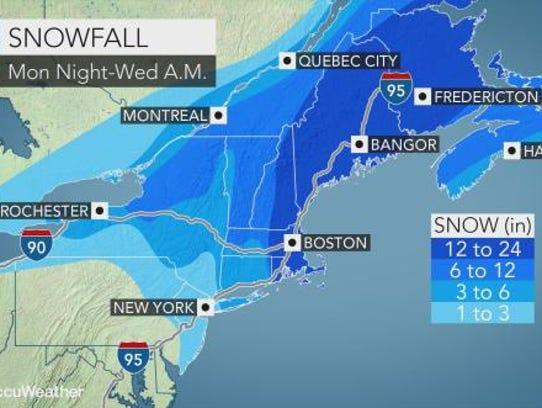 Snow is expected to hit the Lower Hudson Valley between