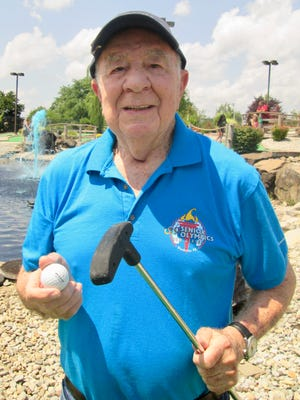 Al Kazlow, 91, of Linden is ready for this year's New Jersey Senior Olympics, which will be held next month in Woodbridge.