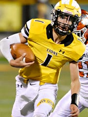 Red Lion quarterback Zach Throne has more than 1,000 yards rushing and passing this season. Last year, Throne was a wide receiver.