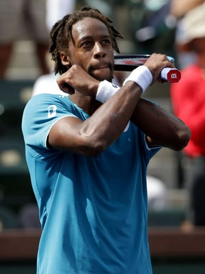 """French tennis player Gael Monfils is one of several athletes to give the """"Wakanda Forever"""" salute featured in the movie, 'Black Panther.'"""