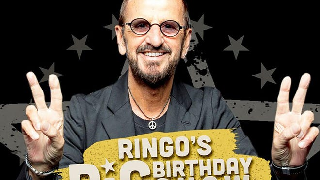 "Former Beatle Ringo Starr gives the peace sign to go along with his ""Peace and Love"" mantra as he prepared to celebrate his 80th birthday last month."