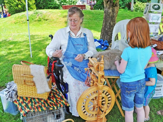 Watch yarn spun at Sheep to Shawl at Willamette Heritage Center at the Mill