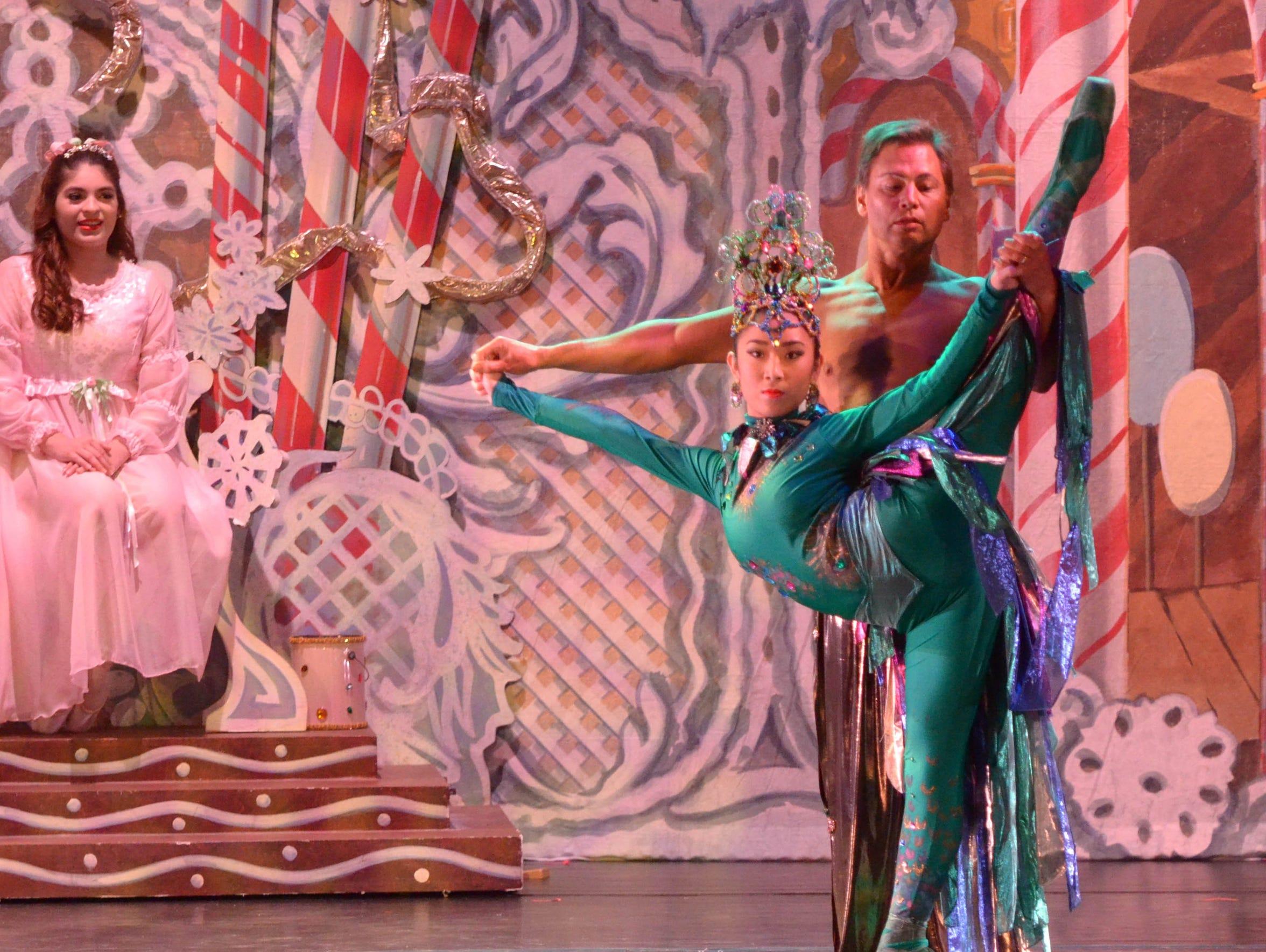 Clara enjoys the peacock dance in Act 2 of Abilene