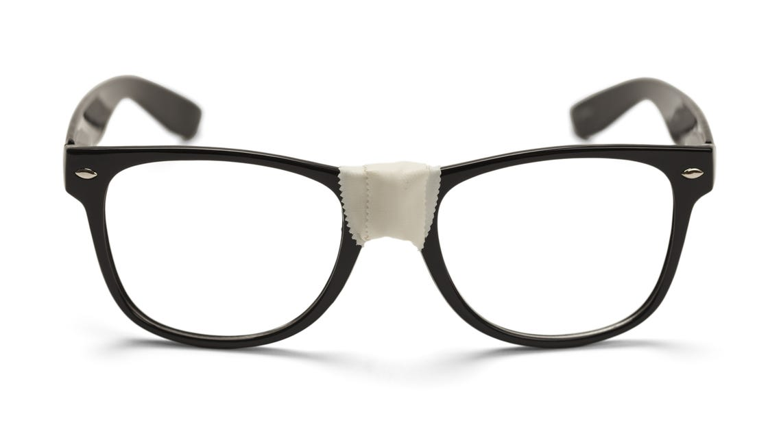 will geek out  expertly   Geek Glasses With Tape