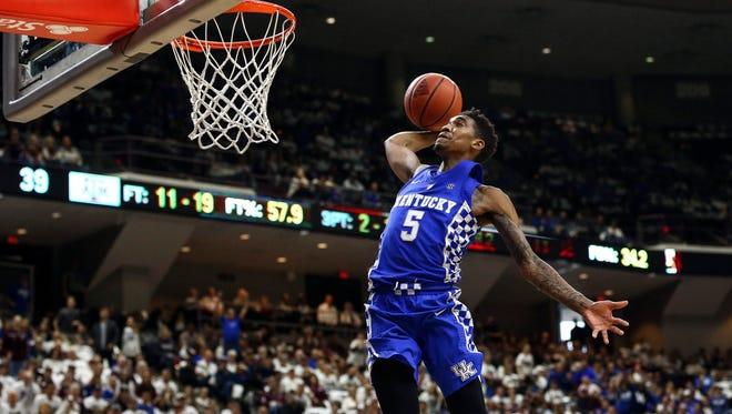 No. 7 - New York Knicks: Kentucky Wildcats, Malik Monk
