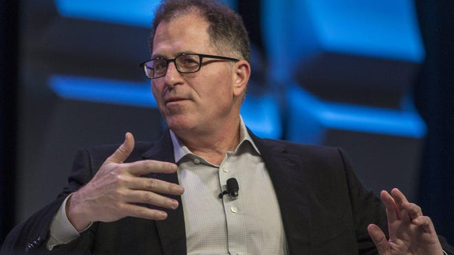 Dell Technologies founder and CEO Michael Dell speaks during the SXSW conference in Austin on March 10, 2018.