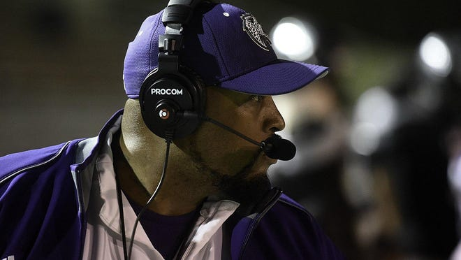 LBJ head coach Jahmal Fenner led the Jaguars to a 26-7 win over Taylor Friday night.