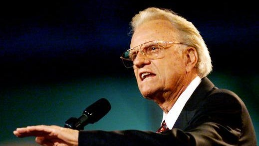 Billy Graham, world's best-known evangelist, 99.