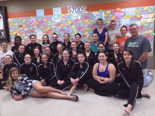 CCCSD swimmers