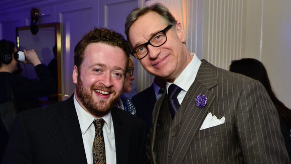 "Neil Casey (left) and Paul Feig (""Bridesmaids,"" ""Freaks and Geeks"") at the premiere of Yahoo's ""Other Space"" in Los Angeles last week."