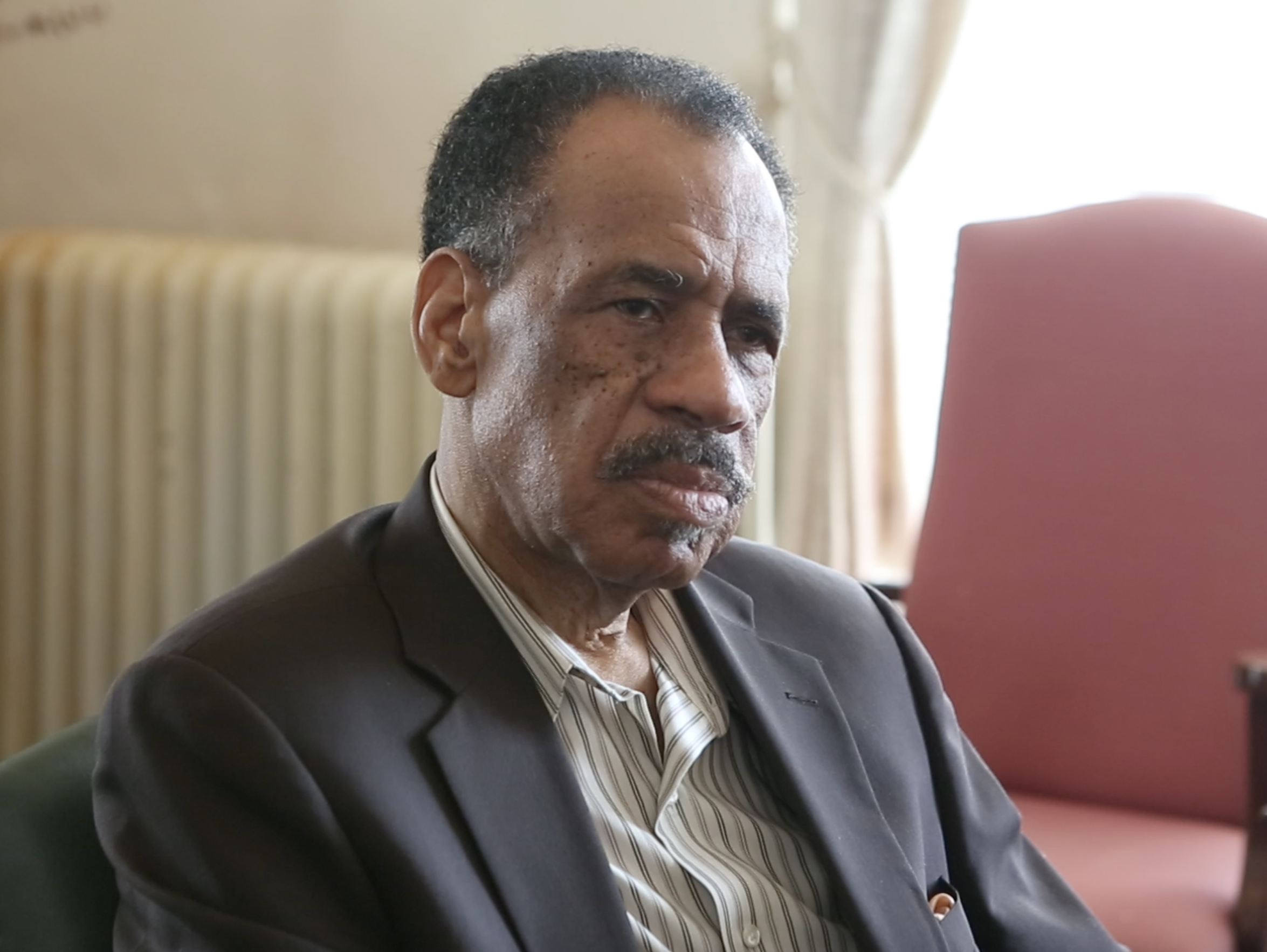 Nestor Stroude, Retha Welch's pastor, still keeps a Bible given to him in her honor after her April 1987 stabbing death. Welch ministered inmates in Ohio and Kentucky prisons. The Enquirer/Amanda Rossmann