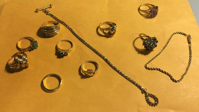Jewelry allegedy stolen by two South Jersey men.