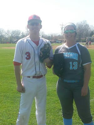 Finneytown's Joey Gerbus threw a no-hitter about a week before Finneytown's Hayley Richardson tossed a perfect game.